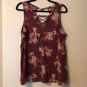 Maurice's size XXL floral tank